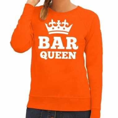 Bar queen sweater oranje dames