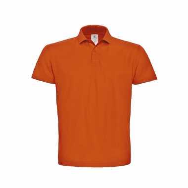 Basic polo t-shirt / poloshirt oranje voor koningsdag of ek / wk supp