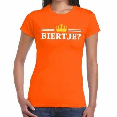 Biertje shirt oranje dames