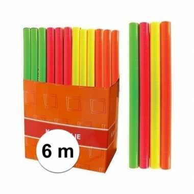 Boeken kaften kaftfolie neon oranje 6 meter