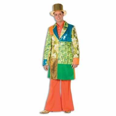 Broek in de kleur oranje wijd uitlopend voor heren