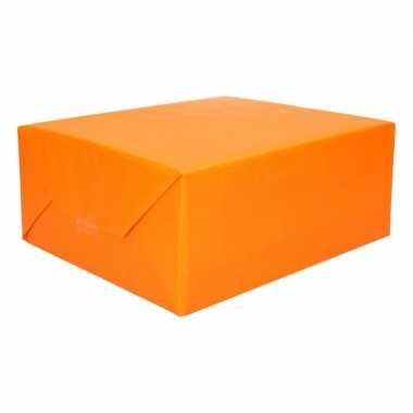Cadeaupapier 2 kleuren geel/oranje 200 x 70 cm