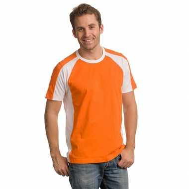 Comfort cut oranje heren shirt