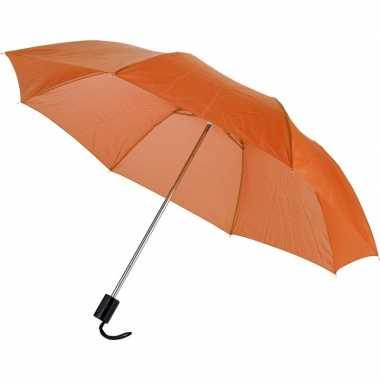 Compacte paraplu oranje 56 cm