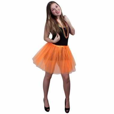 Dames verkleed rokje oranje