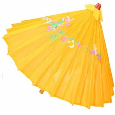 Decoratie parasol china donker oranje 80 cm