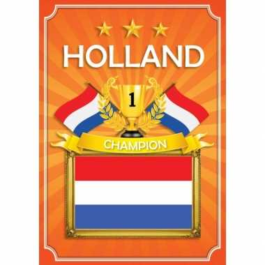 Deurposter holland oranje