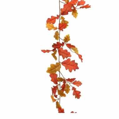 Eikenblad slinger oranje 182 cm