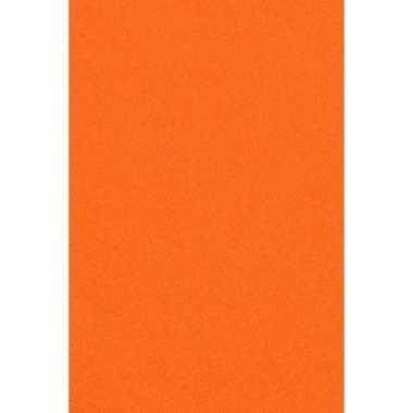 Feest versiering oranje tafelkleed 137 x 274 cm papier