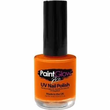 Fel/neon oranje holland supporter nagellak uv/glow in the dark 12 ml