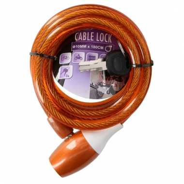 Fiets kabelslot oranje