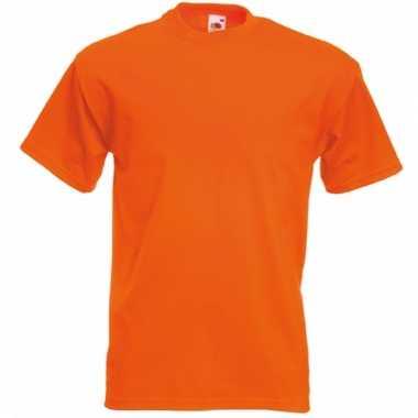 Fruit of the loom tshirt ronde hals oranje