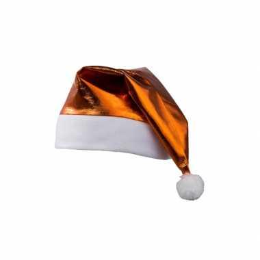 Glamour kerstmuts oranje