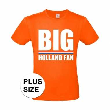 Grote maten big holland fan shirt oranje heren