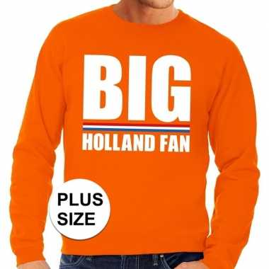 Grote maten big holland fan trui oranje heren
