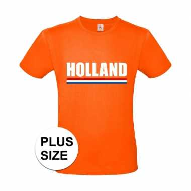 Grote maten holland supporter shirt oranje heren