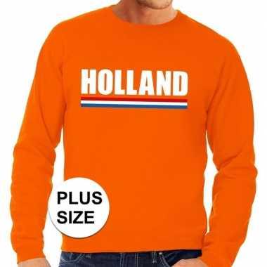 Grote maten hollandse supporter trui oranje heren