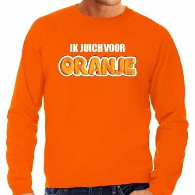 Grote maten oranje fan sweater / trui holland ik juich voor oranje ek/ wk voor heren