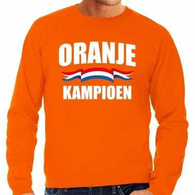 Grote maten oranje fan sweater / trui holland oranje kampioen ek/ wk voor heren