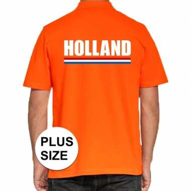 Grote maten polo holland t-shirt oranje kingsday voor heren