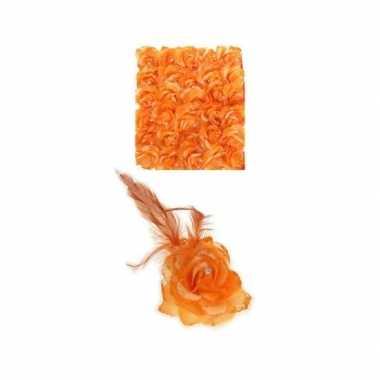 Haarspeld oranje bloem