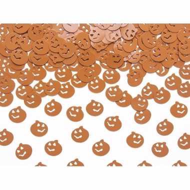 Halloween pompoen confetti oranje 15 gram