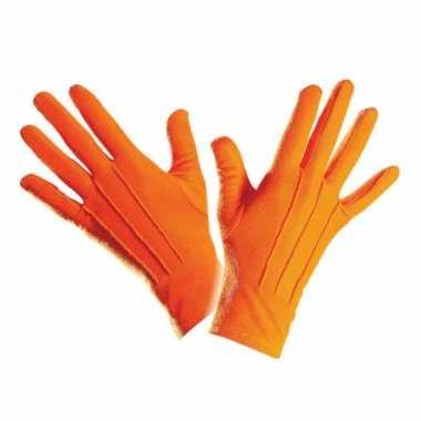 Handschoenen oranje kort