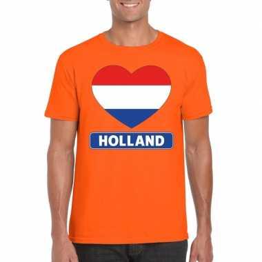 Hart hollandse vlag shirt oranje heren