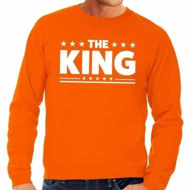 Hart the king sweater oranje heren