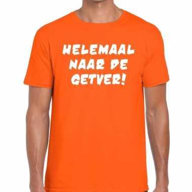 Helemaal naar de getver fun t-shirt oranje voor heren