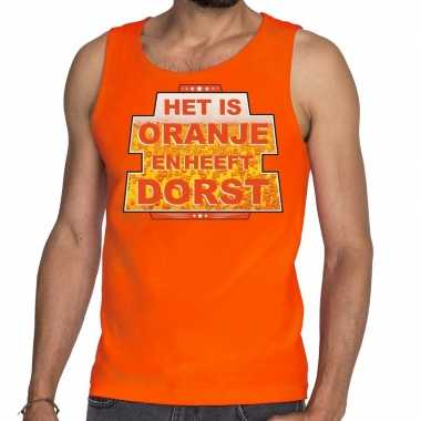 Het is oranje en heeft dorst tanktop / mouwloos shirt oranje heren