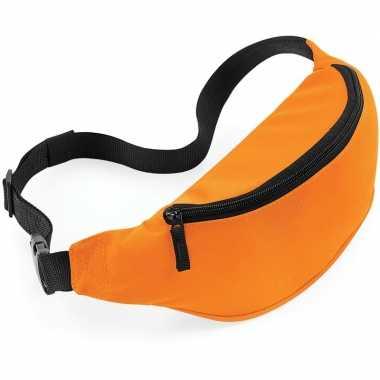 Heuptas oranje met verstelbare band