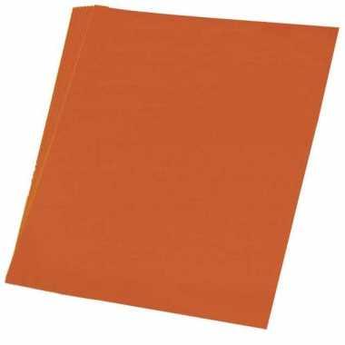 Hobby papier oranje a4 50 stuks