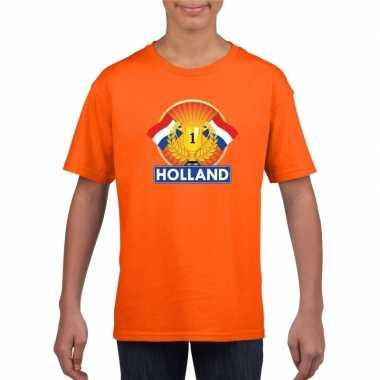 Holland kampioen shirt oranje kinderen