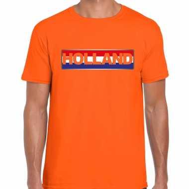 Holland / nederlands elftal supporter t-shirt oranje voor heren