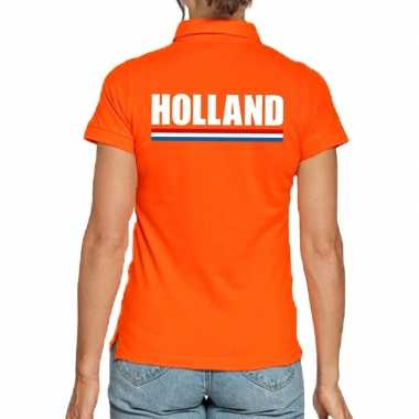 Holland polo t-shirt oranje kingsday voor dames