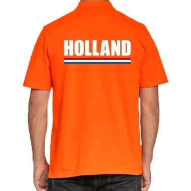 Holland polo t-shirt oranje kingsday voor heren