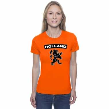 Holland shirt leeuw oranje dames