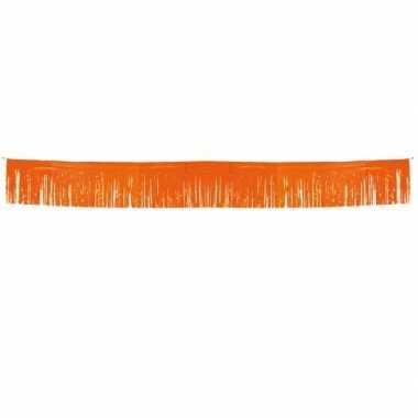 Holland slinger oranje met franjes