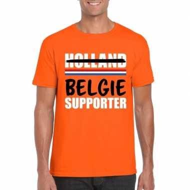 Holland supporter die overloopt naar belgie shirt oranje heren