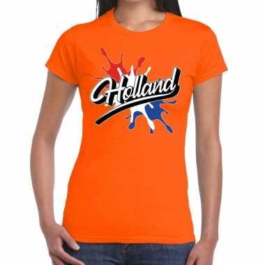 Holland supporter kleding oranje voor dames