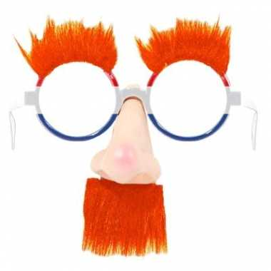 Hollandse oranje feestbril met neus