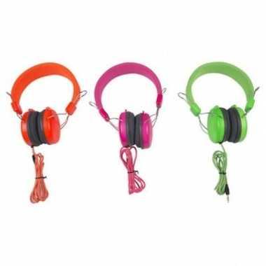 Hoofdtelefoon la gear neon oranje