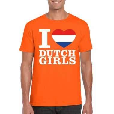 I love dutch girls ik hou van hollandse dames shirt oranje heren