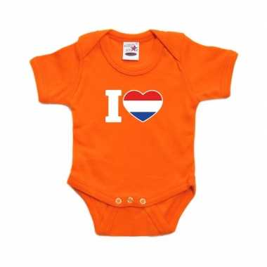 I love holland rompertje oranje babies