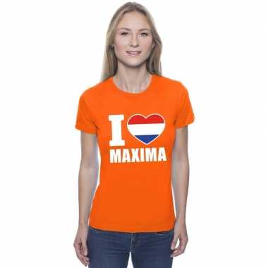 I love maxima shirt oranje dames