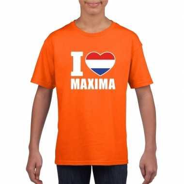 I love maxima shirt oranje kinderen