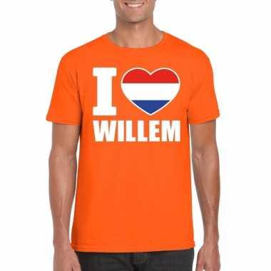 I love willem shirt oranje heren
