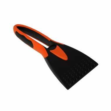 Ijskrabber zwart oranje 21 cm