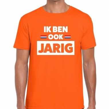 Ik ben ook jarig t-shirt oranje heren